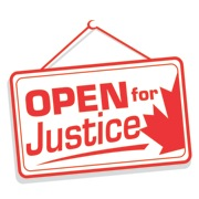 Open for Justice logo