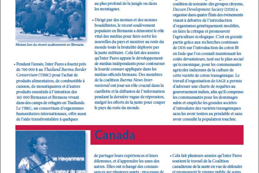 Page couverture des faits salliants 2007