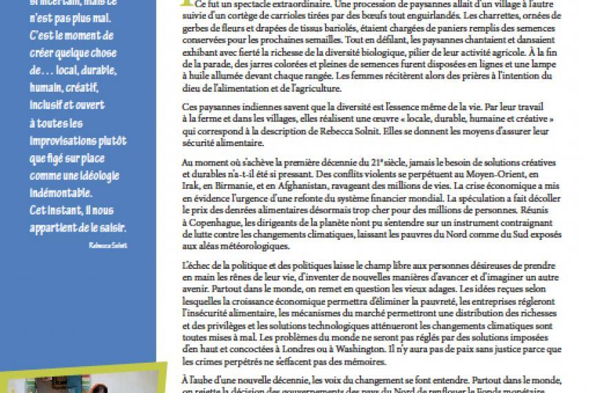 Page couverture du rapport annuel 2009