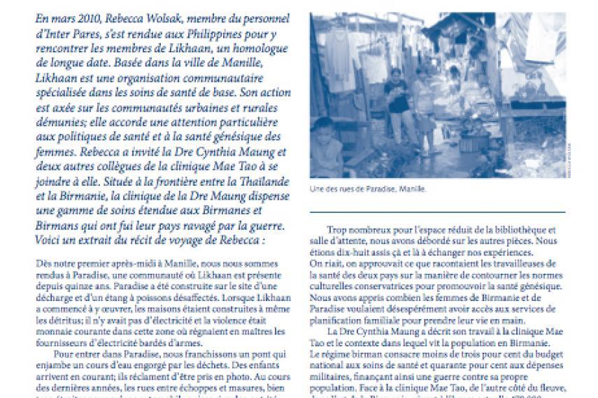 Page couverture du bulletin de Septembre 2010