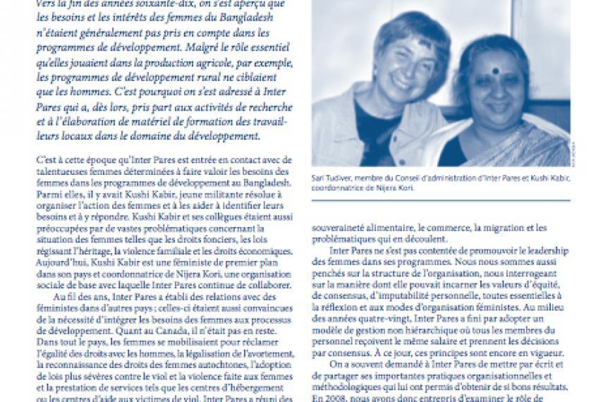 Page couverture du bulletin de Fevrier 2011
