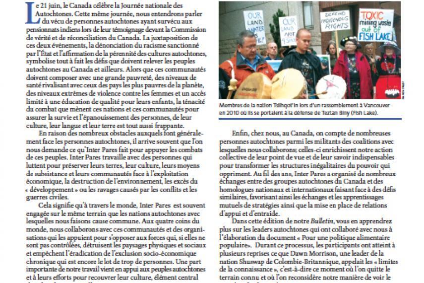 Page couverture du bulletin de Juin 2012