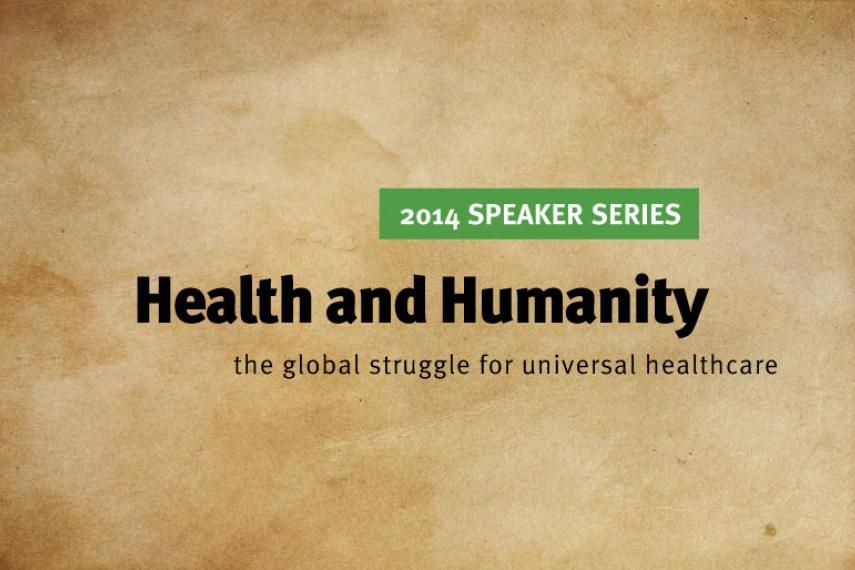 2014 Speaker Series banner