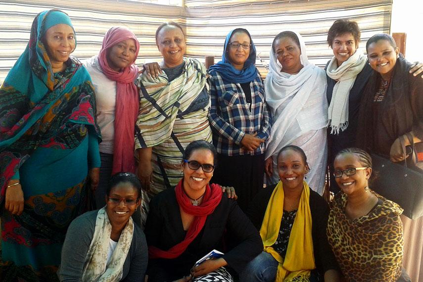 Rita Morbia with SORD staff in Sudan.