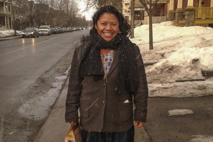 Lolita Chávez, militante pour les droits de la personne participant à la tournée « À la défense de la dissidence, » au Canada.