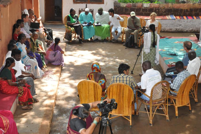 Indian and West African farmers learning exchange