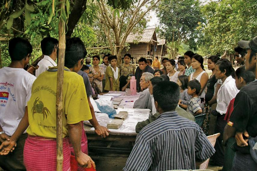Workshop with villagers