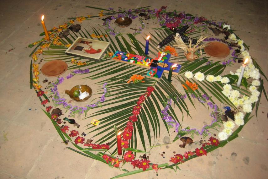 Mayan offering