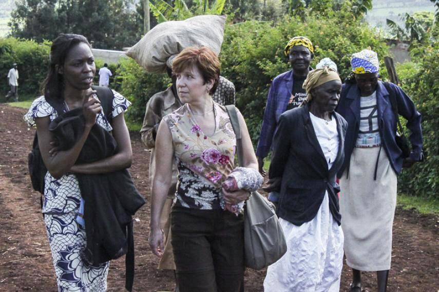Jean Symes d'Inter Pares au Kenya.