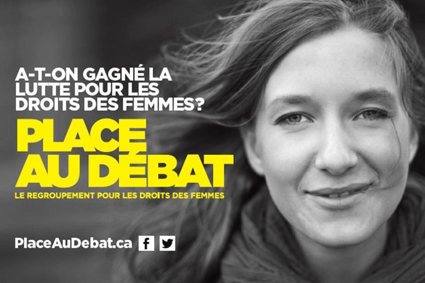 Visuel de la campagne Place au débat