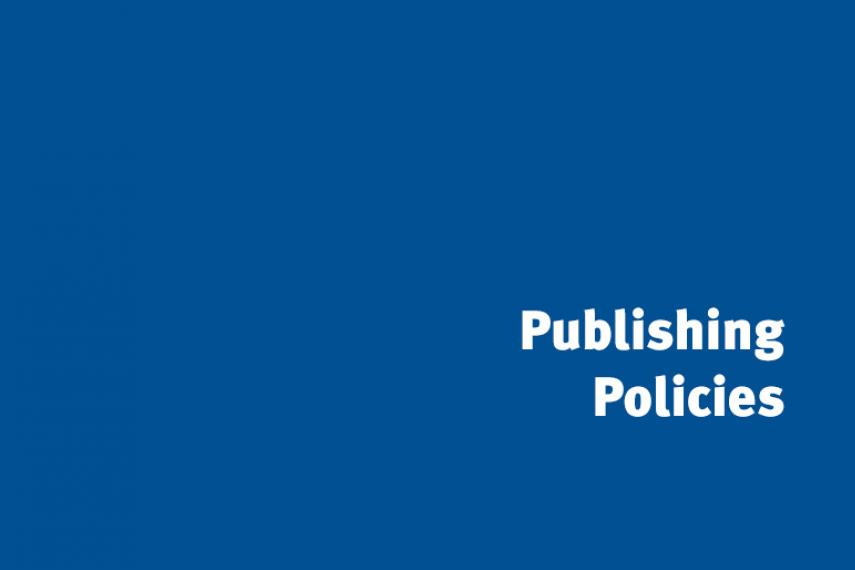 Publishing policy