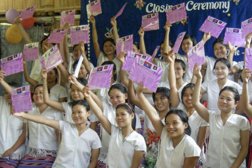 KWO's leadership school for young women: a graduation ceremony.