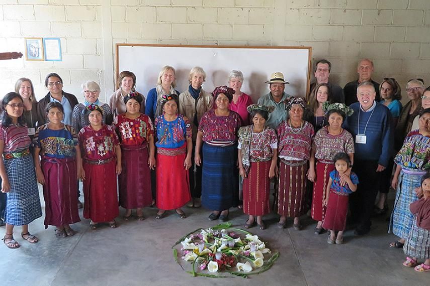 2014 Tour participants meeting with Maya Ixil women in Guatemala