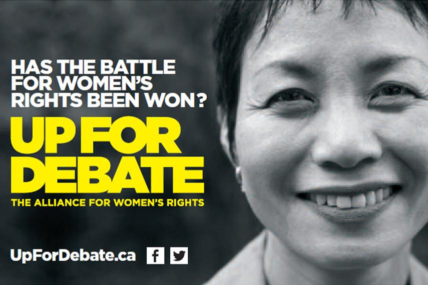 Up for Debate campaign graphic
