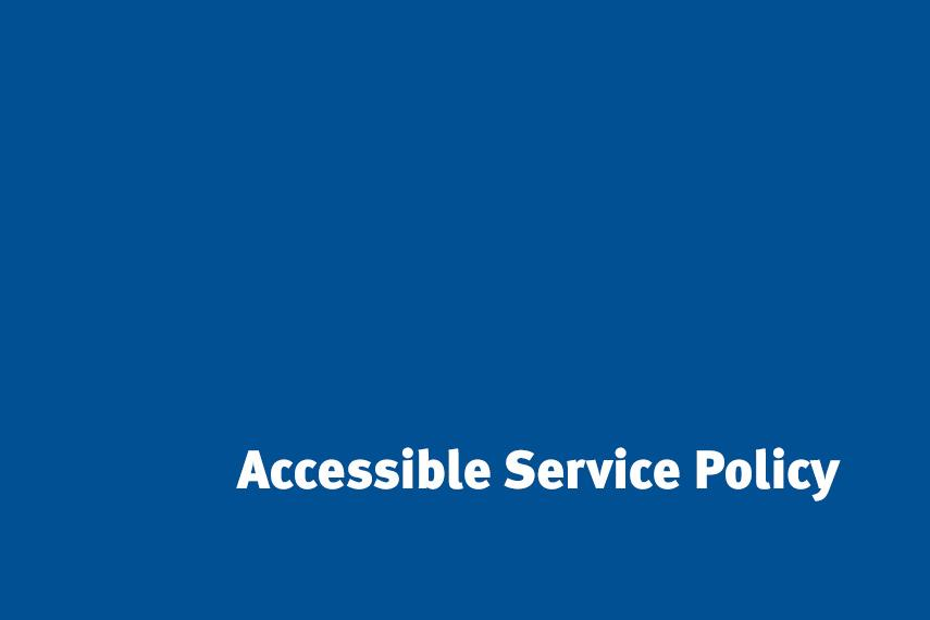 Accessible Service Policy