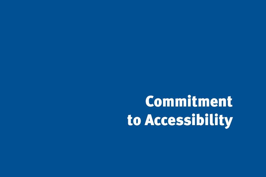 Commitment to Accessibility