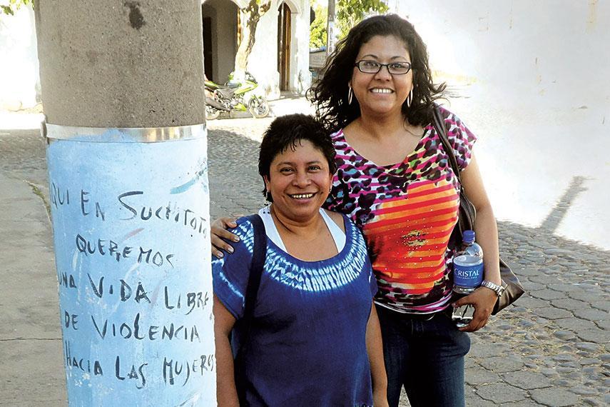 Angélica Rivas and Veronica Zalazar