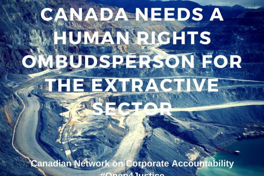 Call for an extractive industry ombudsperson