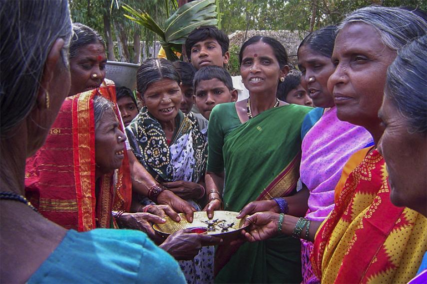 Un groupe de femme en Inde