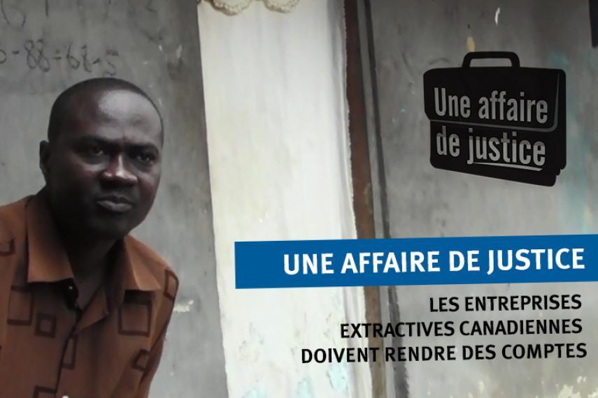 Visuel de la campagne Une affaire de justice