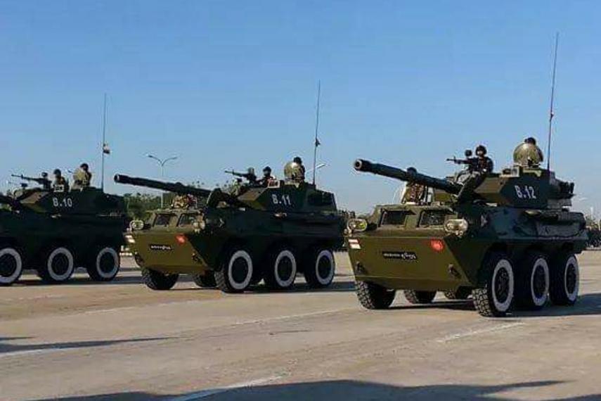 Burma Army tank destroyers