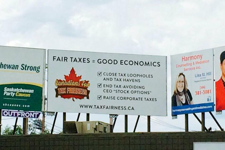 A billboard in Saskatoon