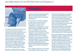 Page couverture des faits salliants 2004