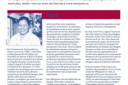 Page couverture des faits salliants 2005