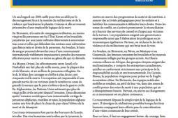 Page couverture du rapport annuel 2006