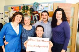 Inter Pares staff are #BlueShirt4Burma