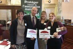 Kevin Page with CHC staff and Board Member.