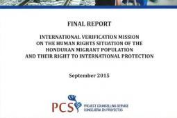 Final Report of the International Verification Mission on the Human Rights of the Honduran Migrant Population and Their Right to International Protection