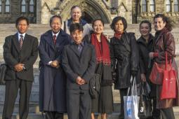 Burma delegation on Parliament Hill