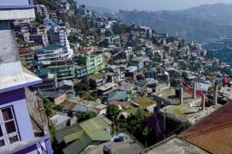The city of Aizawl.