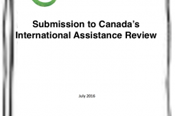 Inter Pares' submission to the International Assistance Review