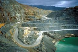 photo of an open-pit mine
