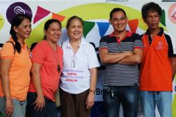 Likhaan staff at a family planning fair in the Philippines