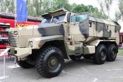 armoured Ural-63099 Typhoon vehicle