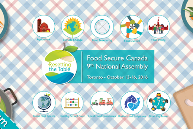 """Food Secure Canada's 9th Assembly, """"Resetting the Table"""""""