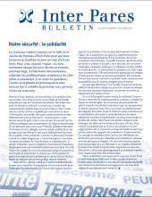 Page couverture du bulletin de Septembre 2009