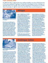 Page couverture des faits salliants 2009