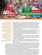 Page couverture du Rapport annuel
