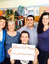 Inter Pares staff are #BlueShirt4Burma