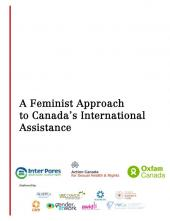 "Cover of ""A Feminist Approach to Canada's International Assistance"""