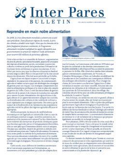 Page couverture du bulletin de Novembre 2008