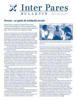Page couverture du bulletin de Fevrier 2009