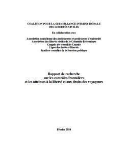 Page couverture du rapport 2010