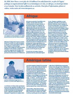 Page couverture des faits salliants 2010