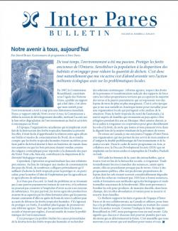 Page couverture du bulletin de Juin 2011