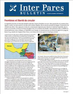 Page couverture du bulletin de Septembre 2011